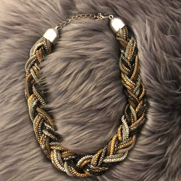 Jewelry - Gold & Silver  Braided Necklace ✨